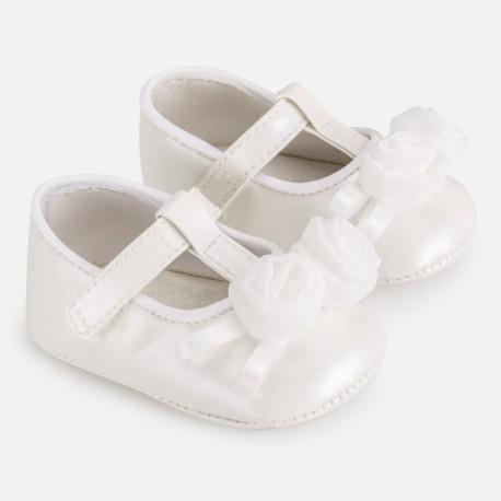 Balerínová obuv pro dívky Mayoral 9285-40 bílá
