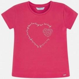 Sportovní košile pro dívku Mayoral 174-91 červená