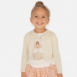 Elegantní svetr pro dívky Mayoral 321-90 písek