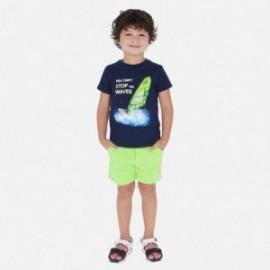 Bavlněné bermudské kraťasy pro chlapce Mayoral 611-79 celadon