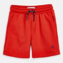 Bavlněné bermudské kraťasy pro chlapce Mayoral 611-85 červené