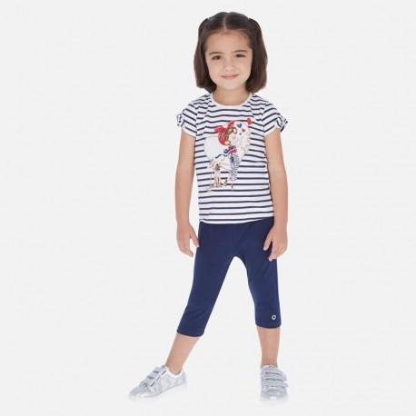 Bavlněné legíny pro dívky Mayoral 723-48 tmavě modrá