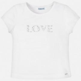 Tričko s krátkým rukávem pro dívky Mayoral 854-92 bílá