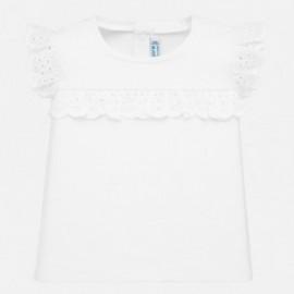 Tričko s krátkým rukávem dívky Mayoral 1061-21 bílá