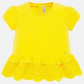 517/5000 Tričko s krátkým rukávem pro dívku Mayoral 1062-15 žlutá