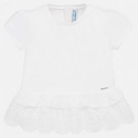 Tričko s krátkým rukávem pro dívku Mayoral 1062-16 bílá