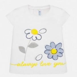 Tričko s krátkým rukávem pro dívku Mayoral 1063-87 bílá
