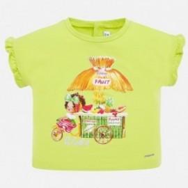 Tričko s krátkým rukávem pro dívku Mayoral 1064-61 pistácie