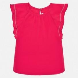 Tričko s krátkým rukávem pro dívku Mayoral 1066-79 červená