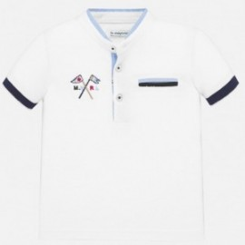 Polo tričko na stojatém límci pro chlapce Mayoral 1144-16 bílá