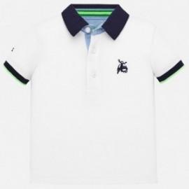 Polo tričko hladké s výšivkou kluci Mayoral 1152-91 bílá