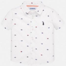 Košile s potiskem pro chlapce Mayoral 1159-86 bílá