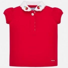 Polokošile s límečkem pro dívky Mayoral 1167-65 červená