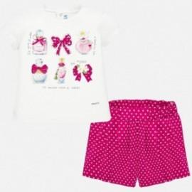 Sada tričko a dívčí bermudy Mayoral 1211-96 červená