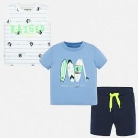 Sada 2 košil a bermudské kraťasy pro chlapce Mayoral 1691-56 modrý