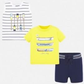3dílná chlapecká sportovní souprava Mayoral 1693-16 žlutý