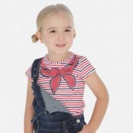 Tričko pruhovaný holčičí Mayoral 3005-35 červená