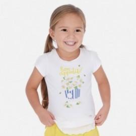Tričko holčičí Mayoral 3013-41 Bílo-žlutý