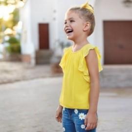 Gázové tričko holčičí Mayoral 3014-23 žlutý