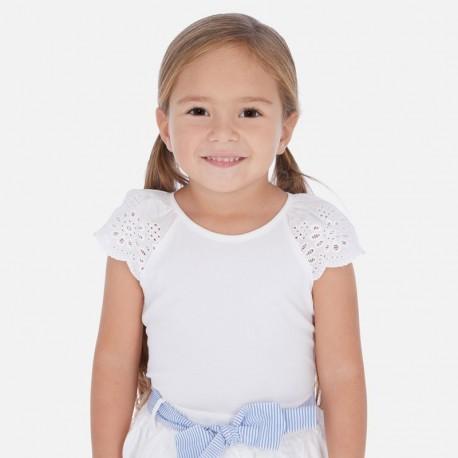 Tričko na popruhy holčičí Mayoral 3023-78 bílá