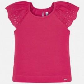 Tričko na popruhy dívky Mayoral 3023-80 červená