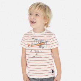 Tričko pruhovaný chlapci Mayoral 3064-63 oranžový