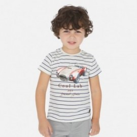 Tričko pruhovaný chlapci Mayoral 3064-64 bílá