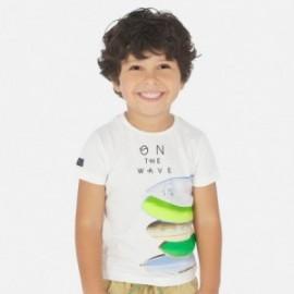Tričko s krátkými rukávy chlapci Mayoral 3067-53 bílá