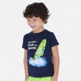 Tričko s krátkými rukávy chlapci Mayoral 3068-10 granát