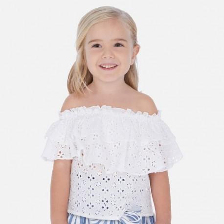 Halenka s límcem dívka Mayoral 3182-29 bílá