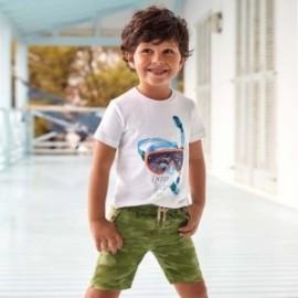 Bermudy s potiskem pro chlapce Mayoral 3264-15 zelená