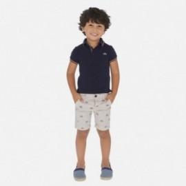 Sada bermudského pólu s potiskem pro chlapce Mayoral 3270-10 navy blue