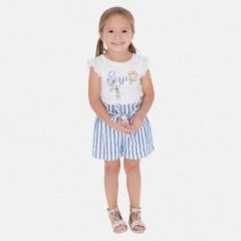 Pruhované kraťasy pro dívky Mayoral 3278-37 modrá