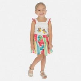 Sukně kalhoty s pruhy pro dívky Mayoral 3281-7 barevné