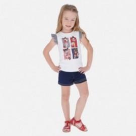 Sada halenky a šortek pro dívky Mayoral 3289-69 bílá