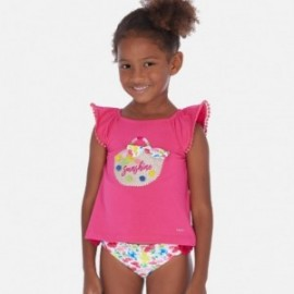 Set trička se šortkami s potiskem pro dívku Mayoral 3293-21 Fuchsia