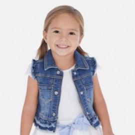 Džínová vesta pro dívku Mayoral 3322-83 tmavě modrá