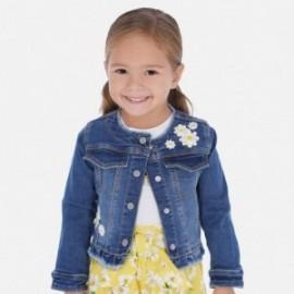 Fantasy džínová bunda pro dívky Mayoral 3467-96 tmavě modrá