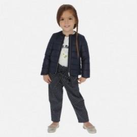 Dlouhé kalhoty s puntíky pro dívky Mayoral 3540-23 granát