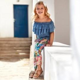 Kalhoty dlouhé tropické tropy pro dívky Mayoral 3544-7 barevné