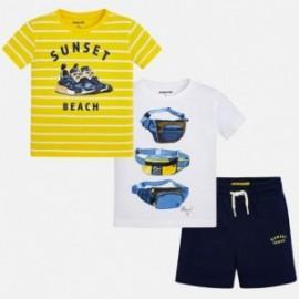 sada bavlna 2 trička a šortky pro chlapce Mayoral 3624-13 granát