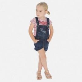 Krátké montérky džíny pro dívku Mayoral 3632-5 granát