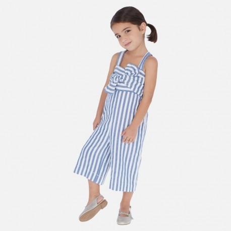 Kombinéza s popruhy pro dívky Mayoral 3817-10 modrý