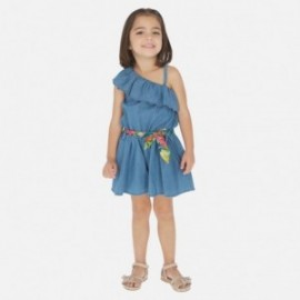 Kombinéza džíny pro dívku Mayoral 3818-5 modrý