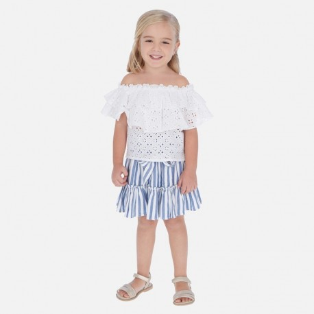 Sukně pruhované dívčí Mayoral 3904-73 modrý