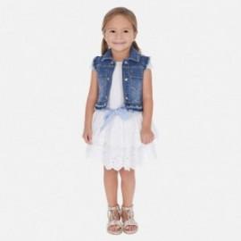 Sukně vyšívané dívky Mayoral 3905-38 bílá
