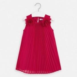 Plisované dívčí šaty Mayoral 3922-92 červená
