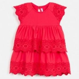 506/5000 Dívčí vyšívací šaty Mayoral 3947-77 červená