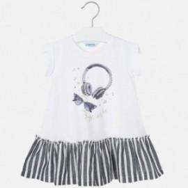 Bavlněné šaty pro dívky Mayoral 3948-29 granát