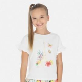 Tričko s krátkým rukávem pro dívky Mayoral 6013-27 bílá
